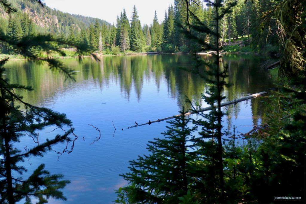 A still lake reflecting the trees and sky . . . an image of how our hearts can be once we remove unhealthy things from it
