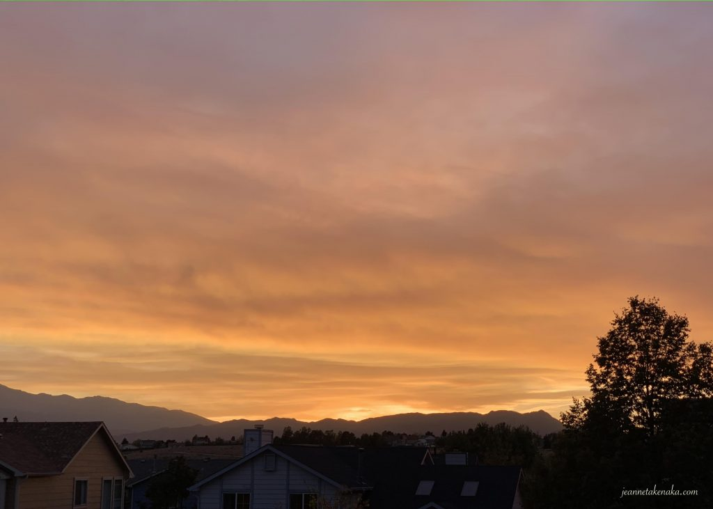A smoky sunset...when people face painful situations, sometimes we need to be present in painful seasons