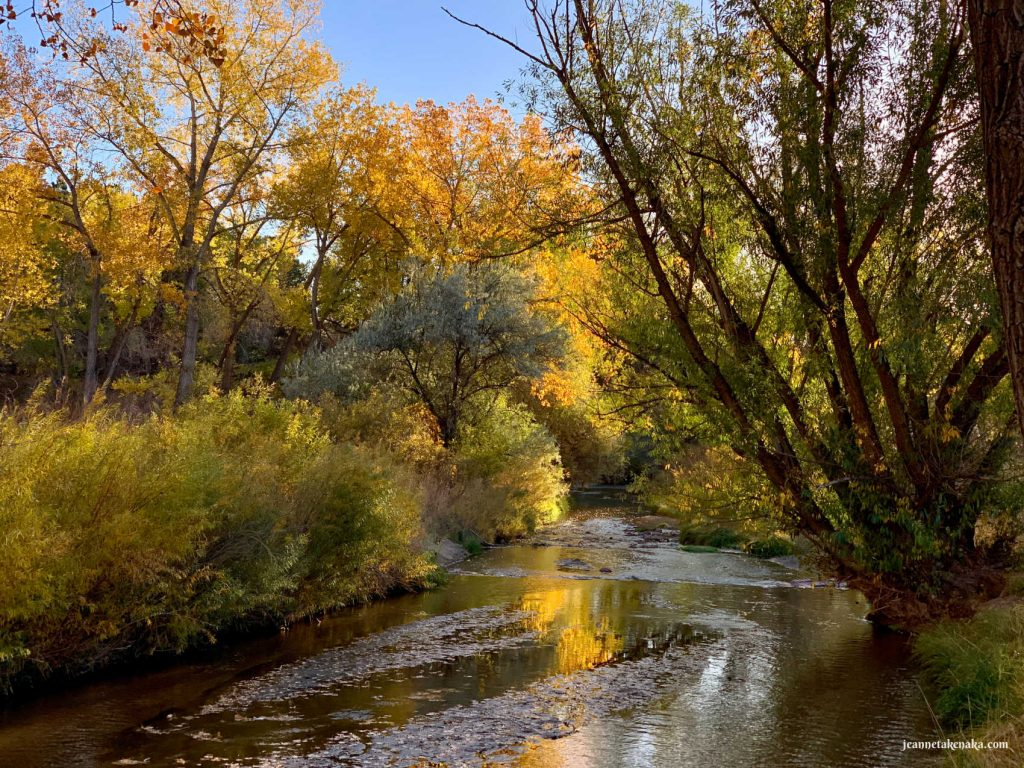 A photo of fall colors reflecting in a creek . . . a reminder that we all need rest