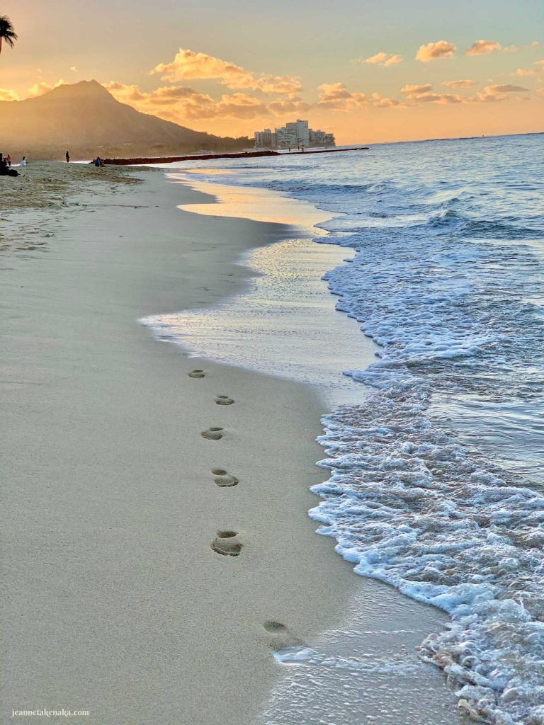 Footsteps on the beach a reminder that we're on a path to being known