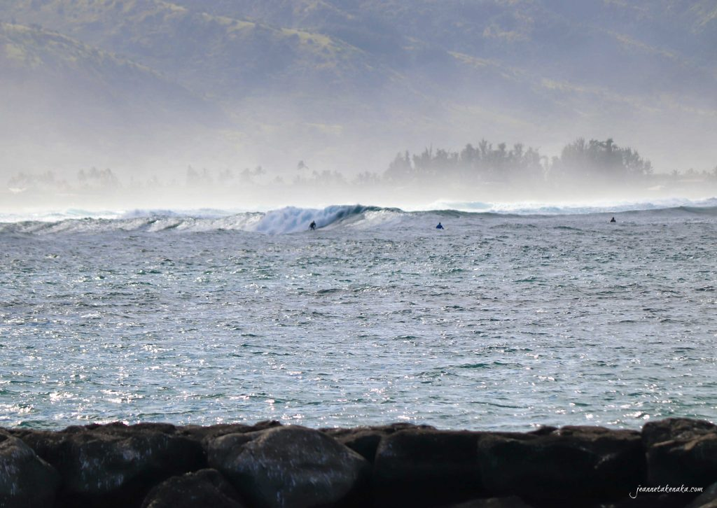 Surfers riding big waves. We each need to determine to overcome a fear of failure