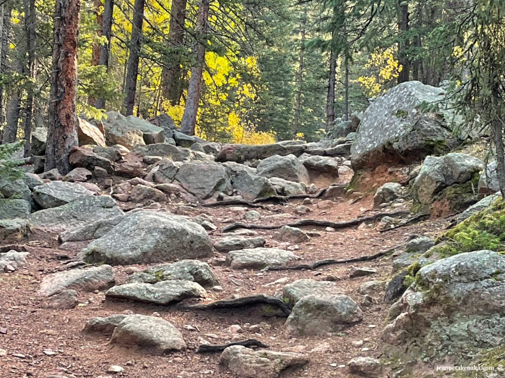Rocks on a dirt path, a reminder that sometimes we face obstacles in life that can make it challenging to keep faith in hard times